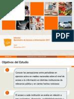 Barómetro de Acceso a la Información 2011