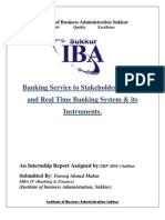 BANKING SERVICES to Stakeholders Online and Real Time Banking