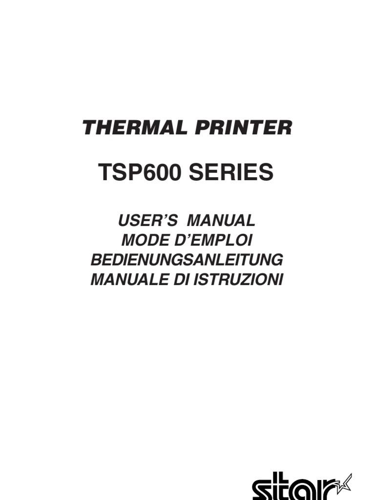 Tsp600 Series: Thermal Printer