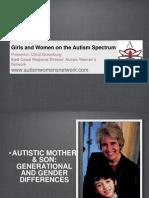 Autism Women's Network Webinar with Autism NOW December 13, 2011