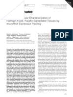 Szaranska - Accurate Molecular Characterization of FFPE Tissue by MiRNA Profiling