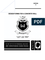 US Army en 5151 Engineer Course - Design Forms for a Concrete Wall En5151