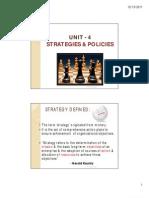 UNIT - 4 Strategies & Policies
