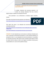 pronome de tratamento e colocações pronominais