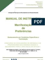 Manual de Manifestação de Preferências – Contratação e DCE