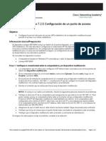 7.2.5 Configuración de un punto de acceso inalambrico