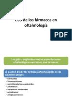 Uso de los fármacos en oftalmología