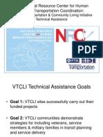 VTCLI Technical Assistance Program Presentation 12-15-11