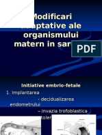 Modificari Adaptative Ale Organismului Matern in Sarcina Al