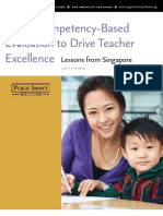 Using Competency-Based Evaluation to Drive Teacher Excellence Lessons from Singapore