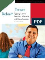Teacher Tenure Reform