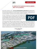 Multi Plan Press Release Land Acquisition