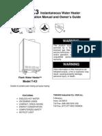 TAKAGI T-K3 Instantaneous Water Heater
