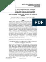 Validación de un cuestionario para investigar concepciones de profesores sobre ciencia y modelado científico en el contexto de la física