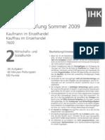 IHK_Prüfung_Kaufmann_WirtschaftSozialkunde_Sommer2009