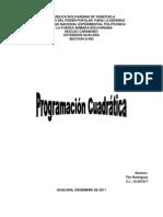 Programacion Cuadratica