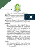 Discover Bustos Video Ad Contest 2012 Mechanics Sheet