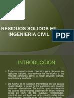 Residuos Solidos en Ingenieria Civil