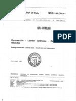 NCh169 – Construcción – Ladrillos cerámicos – Clasificación y requisitos
