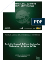 Programa Nacional De Plantas Medicinais E Fitoterápicos