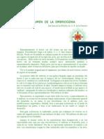 Resumen de La Embriogenia S. R. de la FERRIERE