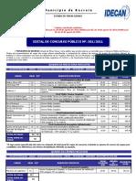 Edital Recreio Concurso Público republicado em 16 08 2011