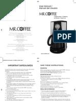 Mr. Coffee Manual