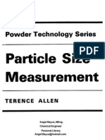 Terence Allen Particle Size Measurement