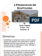 A Presentation on Scaffolding