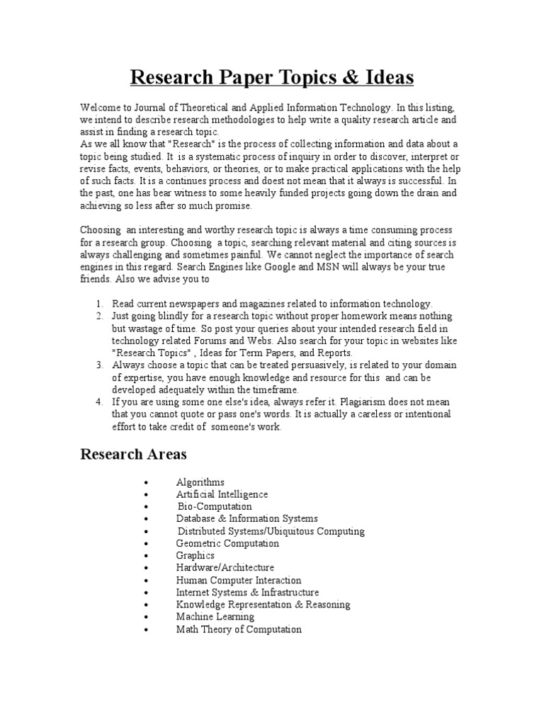 Computer information systems research paper topics order logic dissertation