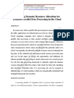 Exploiting Dynamic Resource Allocation for Efficient Parallel Data Processing in the Cloud Abstract by Coreieeeprojects