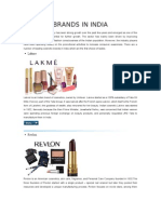 The Indian Cosmetics Industry Has Seen Strong Growth Over the Past Few Years and Emerged as One of the Industries Holding Huge Potential for Further Growth