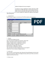 Handbook of Telephone Directory Processing Tool
