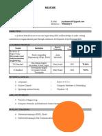 Jayakumar Resume