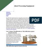 Dairy Ingredient Processing Equipment