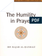 "Humilty in Prayer - ""Kushoo Fees- Salah"" - Imam Ibn Rajab al-Hanbali"