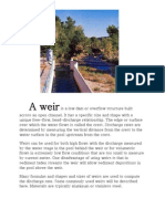 Weirs and Flumes