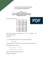 Handout Contoh Proses Penyusunan Regresi Linear dengan Koefisien Deterministik