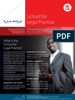 School for Legal Practice 2012v2 September 2011