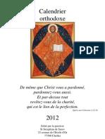 Calendrier orthodoxe 2012