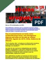 Noticias Uruguayas Jueves 15 de Diciembre 2011
