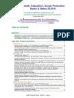 Health, Education, Social Protection News & Notes 26/2011