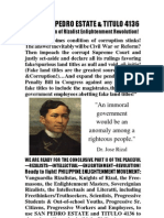 The San Pedro Estate and Titulo 4136 -- The Weapon of Rizalist Enlightenment Revolution!