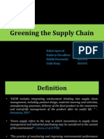 Greening the Supply Chain - Final