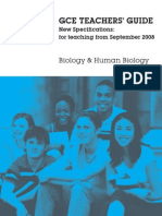 Wjec Biology Spectificaion