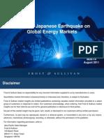 Impact of Japanese Earthquake on Global Energy Markets