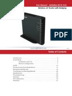 WCR G54 Manual