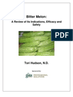 A Research Review of Bitter Melon