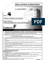 Prova Analista de Sistema TRE MG