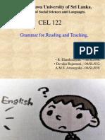 CEL 122 Present Perfect Tense